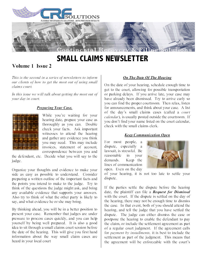 Small Claims Issue 2